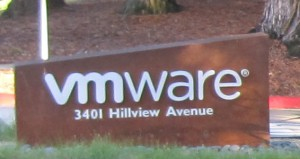 VMware sign Entrance